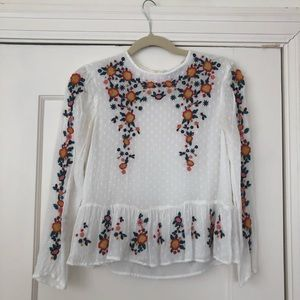 Tops - Zara Woman Top with Floral Design